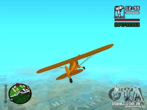 Piper J-3 Cub para GTA San Andreas vista direita