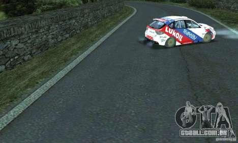 A rota do rali para GTA San Andreas quinto tela