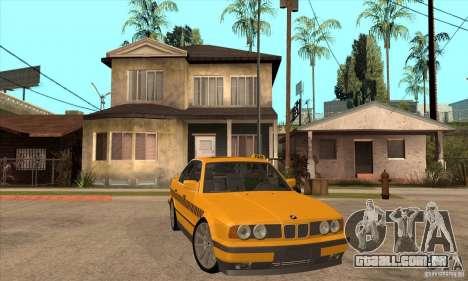 BMW E34 535i Taxi para GTA San Andreas vista traseira