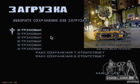 Velozes e furiosos 3 menu para GTA San Andreas