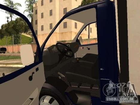GAZ 3302-14 para GTA San Andreas vista traseira
