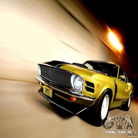 Telas de carregamento, no estilo do Ford Mustang para GTA San Andreas