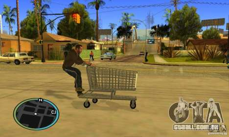 Shopping Cart Faggio V2 para GTA San Andreas vista interior