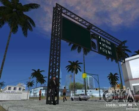 Estrada sinais v 1.0 para GTA San Andreas terceira tela