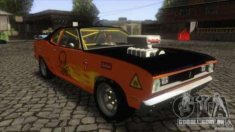 Plymouth Duster 440 para GTA San Andreas vista traseira