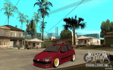 Peugeot 206 GTI para GTA San Andreas