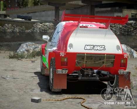 Mitsubishi Pajero Proto Dakar EK86 vinil 2 para GTA 4 vista direita