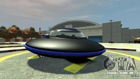 UFO neon ufo blue para GTA 4 traseira esquerda vista