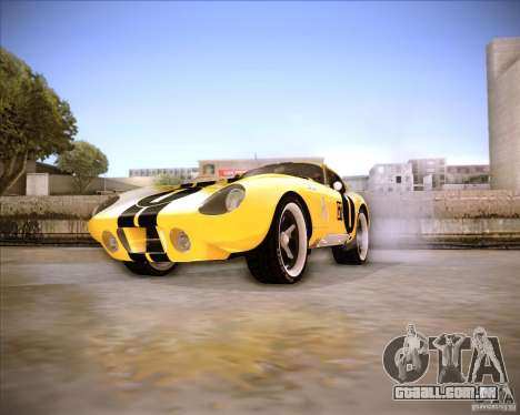 Shelby Cobra Daytona Coupe 1965 para GTA San Andreas vista direita