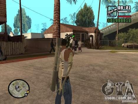 A visão padrão para GTA San Andreas segunda tela