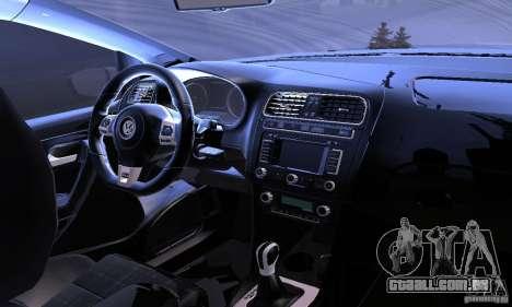 Volkswagen Polo GTI Stanced para GTA San Andreas vista superior