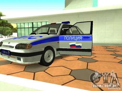 ВАЗ 2114 polícia para GTA San Andreas vista interior