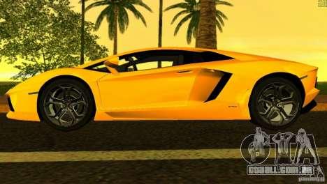 Lamborghini Aventador LP 700-4 para GTA Vice City vista lateral