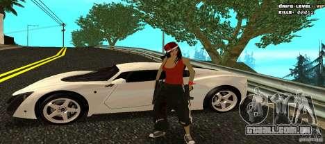 Chicano Chick Skin para GTA San Andreas