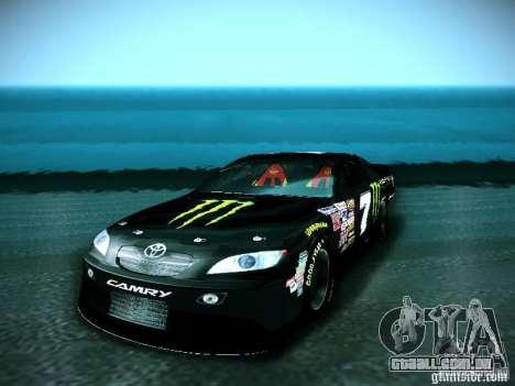 Toyota Camry Nascar Monster Energi Nr.7 para GTA San Andreas