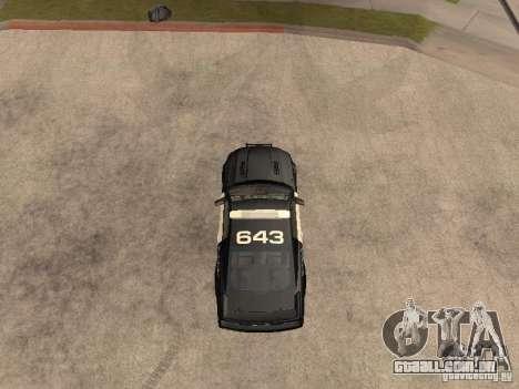 Saleen S281 2007 Barricade para GTA San Andreas vista direita