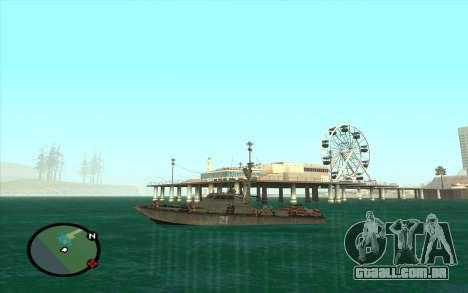 Barco militar de CODMW3 para GTA San Andreas vista direita