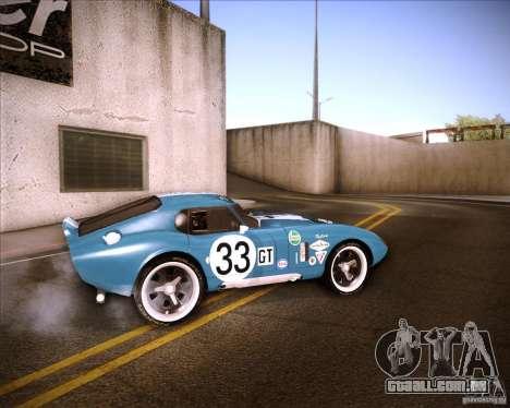 Shelby Cobra Daytona Coupe 1965 para GTA San Andreas esquerda vista