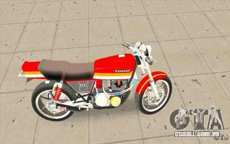 Kawasaki Z400FX para GTA San Andreas esquerda vista