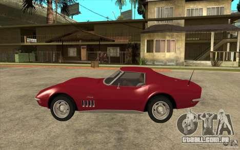 Chevrolet Corvette Stingray para GTA San Andreas esquerda vista