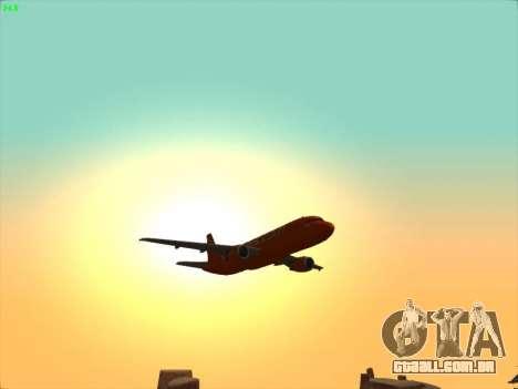 Airbus A320-214 EasyJet 200th Plane para GTA San Andreas vista inferior