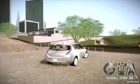 Nissan Leaf 2011 para GTA San Andreas traseira esquerda vista
