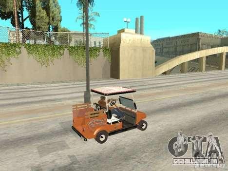 Golfcart caddy para GTA San Andreas traseira esquerda vista