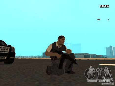 No Chrome Gun para GTA San Andreas quinto tela