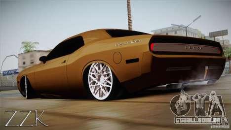 Dodge Challenger Socado Com Rotiform FIXA para GTA San Andreas esquerda vista