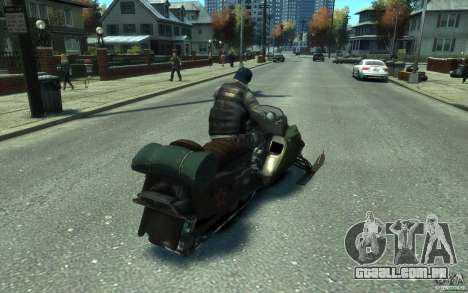 Snowmobile para GTA 4 esquerda vista