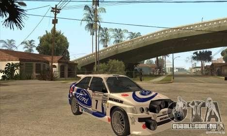 Ford Escort RS Cosworth para GTA San Andreas interior