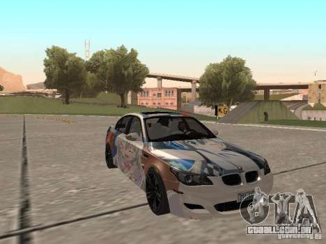 BMW M5 E60 para GTA San Andreas vista superior