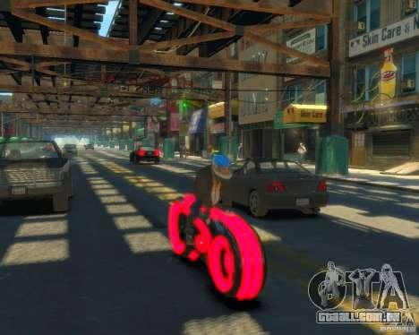 Motocicleta do trono (néon vermelho) para GTA 4 traseira esquerda vista