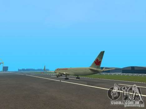 Boeing 767-300 Air Canada para GTA San Andreas vista traseira
