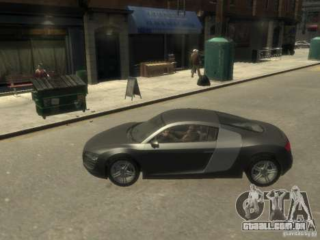 Audi R8 NFS Shift para GTA 4 esquerda vista
