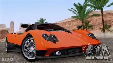 Pagani Zonda F para GTA San Andreas vista superior