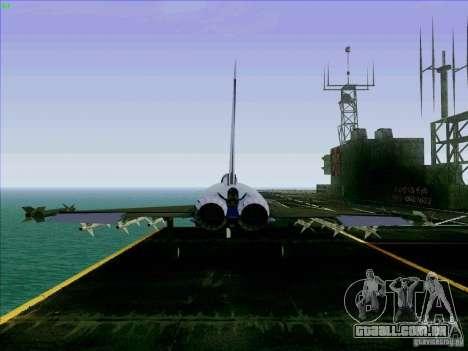 Eurofighter-2000 Typhoon para GTA San Andreas traseira esquerda vista