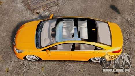 Hyundai Sonata 2011 v2.0 para GTA 4 vista direita