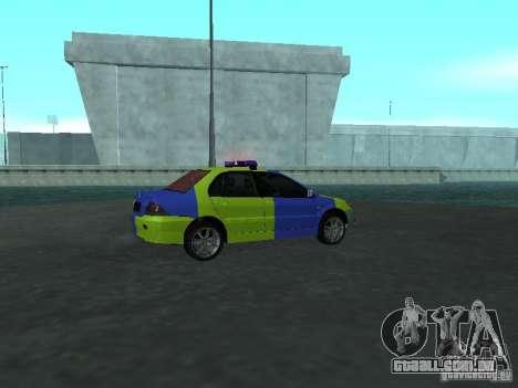 Polícia de Mitsubishi Lancer para GTA San Andreas vista direita