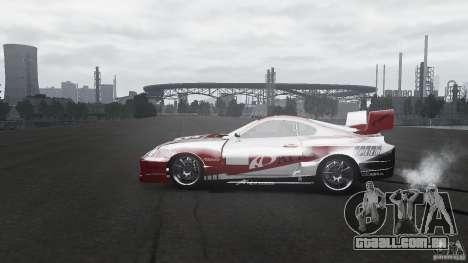 Toyota Supra Apexi Race System para GTA 4 esquerda vista