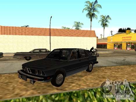 BMW 535is E28 para GTA San Andreas vista traseira