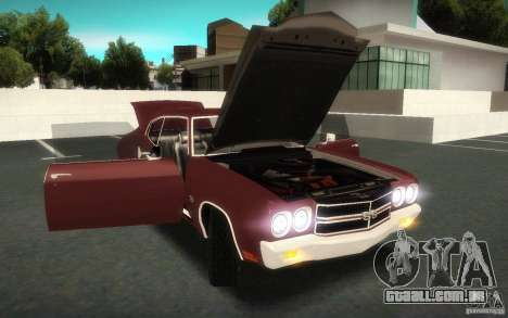 Chevrolet Chevelle SS para vista lateral GTA San Andreas