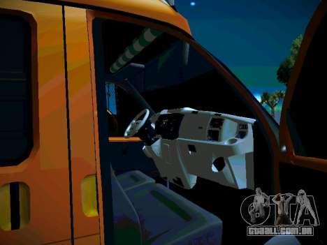 Gazela 2705 negócios para vista lateral GTA San Andreas