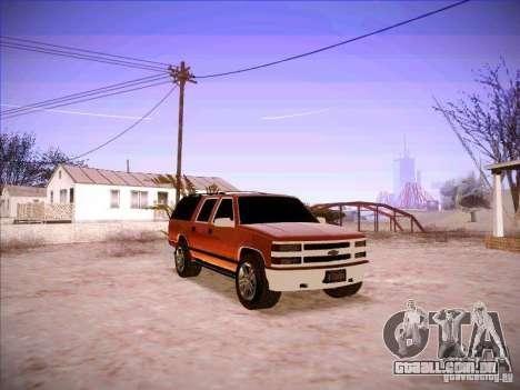 Chevrolet Suburban 1998 para GTA San Andreas vista traseira
