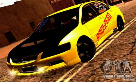 Mitsubishi Lancer Evolution VIII - ProSpeed para GTA San Andreas vista traseira