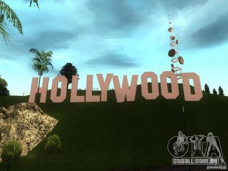 O letreiro de Hollywood para GTA San Andreas segunda tela