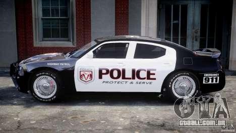 Dodge Charger SRT8 Police Cruiser para GTA 4 traseira esquerda vista