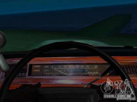 Ford Crown Victoria LTD 1992 SFPD para GTA San Andreas vista interior