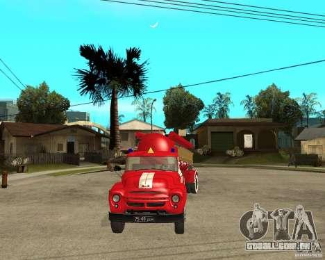 O caminhão de bombeiros AB-6 (130В1) para GTA San Andreas vista traseira
