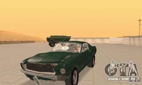 Ford Mustang Bullitt 1968 v.2 para GTA San Andreas vista interior